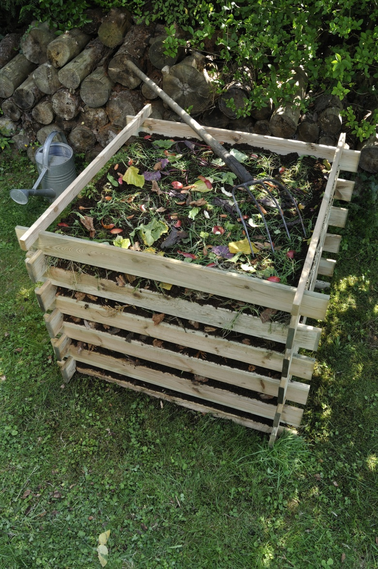 Wooden composter timber garden kitchen waste