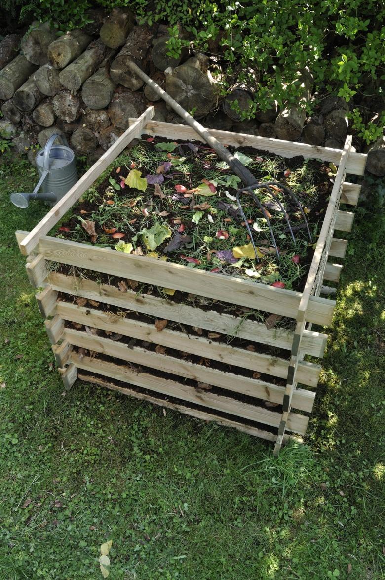 Wooden composter timber garden kitchen waste