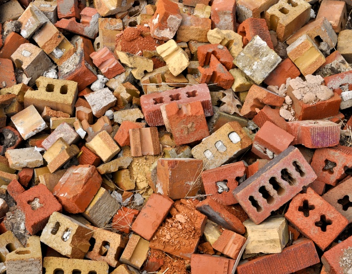 Old bricks can be used in new construction