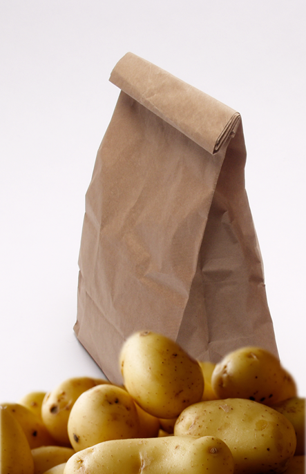 potatoes and paper bag
