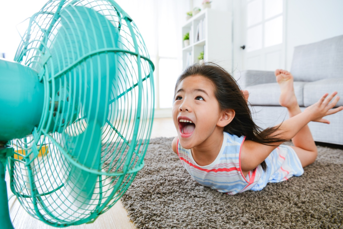 How does your fan cool you down?